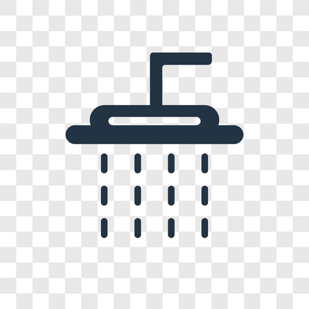 Shower vector icon isolated on transparent background, Shower transparency logo concept