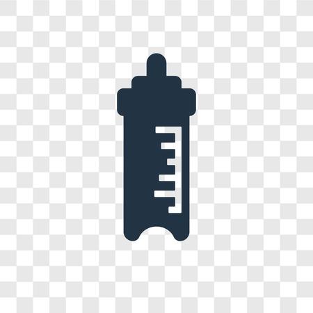 Feeding Bottle vector icon isolated on transparent background, Feeding Bottle transparency logo concept