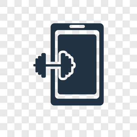 Phone vector icon isolated on transparent background, Phone transparency logo concept