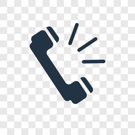Phone call vector icon isolated on transparent background, Phone call transparency logo concept