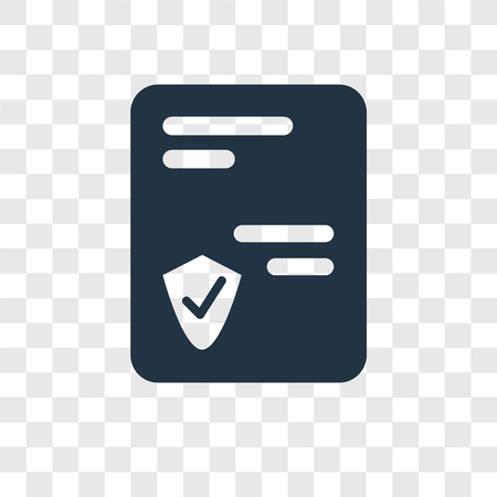 Policy vector icon isolated on transparent background, Policy transparency logo concept