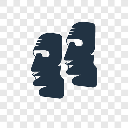 Moai vector icon isolated on transparent background, Moai transparency logo concept Stock Vector - 112480492