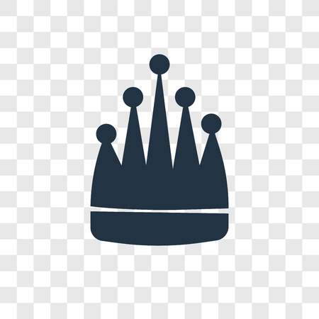 King vector icon isolated on transparent background, King transparency logo concept