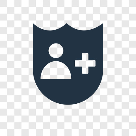 Insurance vector icon isolated on transparent background, Insurance transparency logo concept
