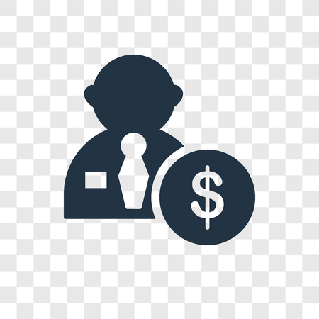 Salary vector icon isolated on transparent background, Salary transparency logo concept