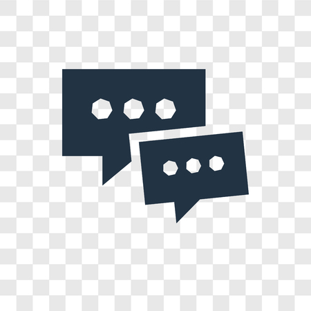 Chat vector icon isolated on transparent background, Chat transparency logo concept