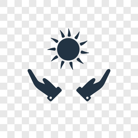 Sun vector icon isolated on transparent background, Sun transparency logo concept