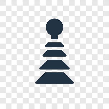 Pyramidal Toy vector icon isolated on transparent background, Pyramidal Toy transparency logo concept