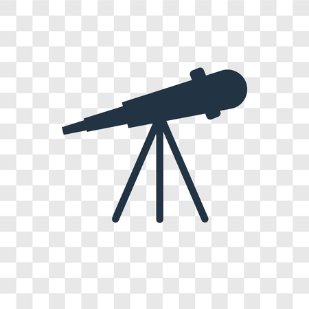 Telescope vector icon isolated on transparent background, Telescope transparency logo concept Illustration