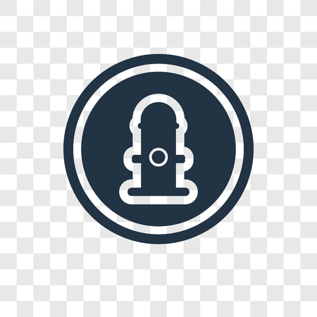 Hydrant vector icon isolated on transparent background, Hydrant transparency logo concept Illustration