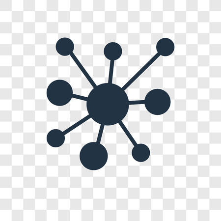 Networking vector icon isolated on transparent background, Networking transparency logo concept Stock Illustratie