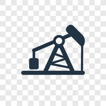 Pumpjack vector icon isolated on transparent background, Pumpjack transparency logo concept