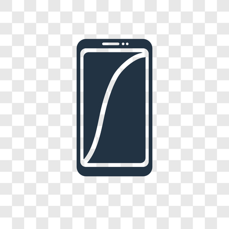 Smartphone vector icon isolated on transparent background, Smartphone transparency logo concept Logo