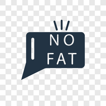 Fat vector icon isolated on transparent background, Fat transparency logo concept