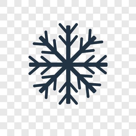 Icône de vecteur de flocon de neige isolé sur fond transparent, concept de logo de transparence flocon de neige Logo