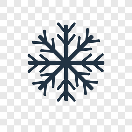 Snowflake vector icon isolated on transparent background, Snowflake transparency logo concept Ilustração