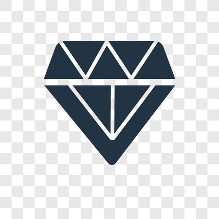 Diamond vector icon isolated on transparent background, Diamond transparency logo concept