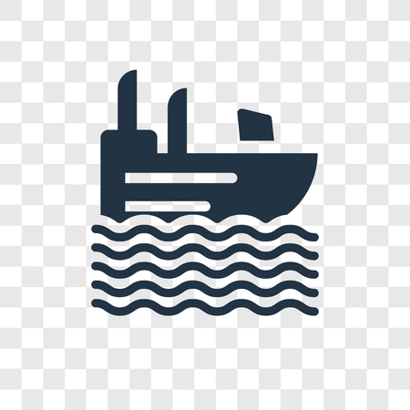 Roofless Speed Boat vector icon isolated on transparent background, Roofless Speed Boat transparency logo concept Ilustracja