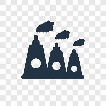 Nuclear plant vector icon isolated on transparent background, Nuclear plant transparency logo concept Illustration