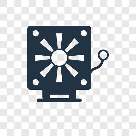 Fire alarm vector icon isolated on transparent background, Fire alarm transparency logo concept Ilustração