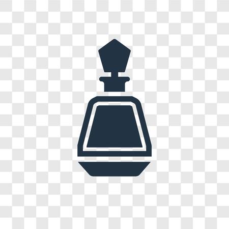 Perfume bottle vector icon isolated on transparent background, Perfume bottle transparency logo concept