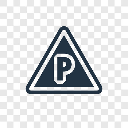 No parking vector icon isolated on transparent background, No parking transparency logo concept