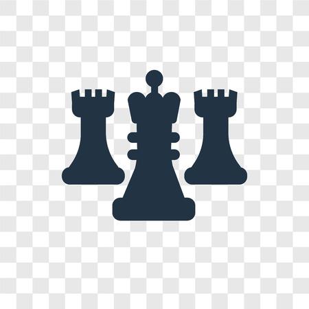 Schach-Vektor-Symbol auf transparentem Hintergrund isoliert, Schach Transparenz-Logo-Konzept Logo