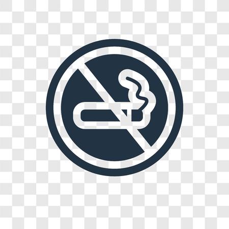 No smoking vector icon isolated on transparent background, No smoking transparency logo concept Ilustração