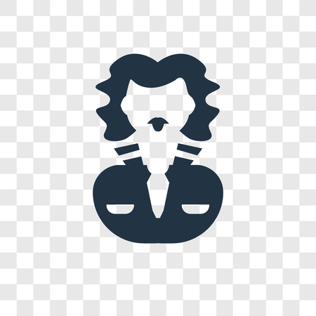 Lawyer vector icon isolated on transparent background, Lawyer transparency logo concept