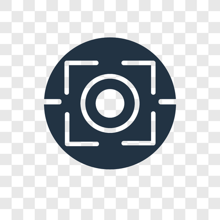 Focus vector icon isolated on transparent background, Focus transparency logo concept