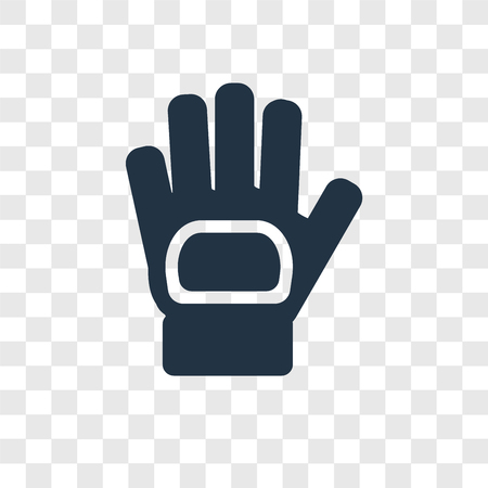 Glove vector icon isolated on transparent background, Glove transparency logo concept