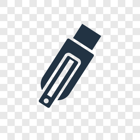 Pendrive vector icon isolated on transparent background, Pendrive transparency logo concept