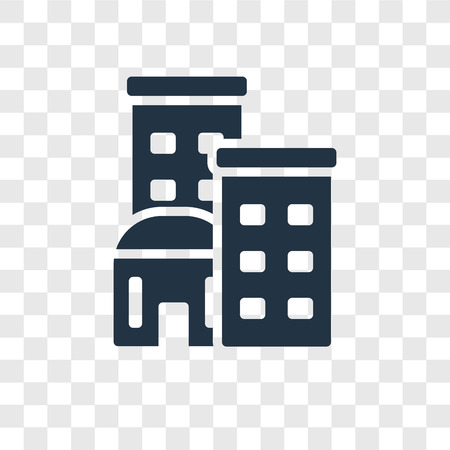 Building vector icon isolated on transparent background, Building transparency logo concept