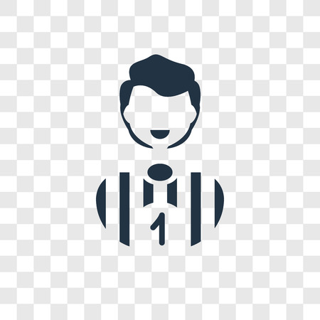 Football player vector icon isolated on transparent background, Football player transparency logo concept Illustration
