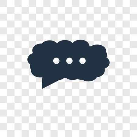 Chat-Vektor-Symbol auf transparentem Hintergrund isoliert, Chat-Transparenz-Logo-Konzept