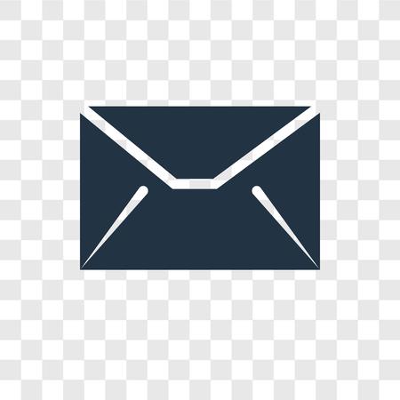 icono de vector de mensaje aislado sobre fondo transparente, concepto de logo de transparencia de mensaje
