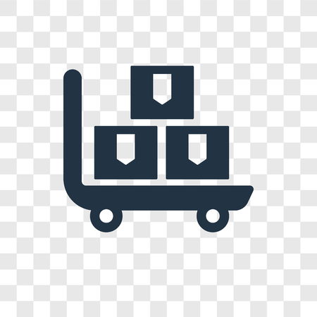 Pushcart vector icon isolated on transparent background, Pushcart transparency logo concept Illustration