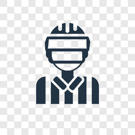 Referee vector icon isolated on transparent background, Referee transparency logo concept