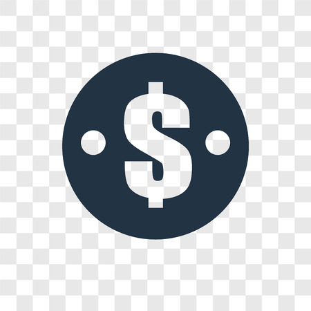 Dollar vector icon isolated on transparent background, Dollar transparency logo concept Illustration