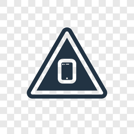 Smarthphone vector icon isolated on transparent background, Smarthphone transparency logo concept