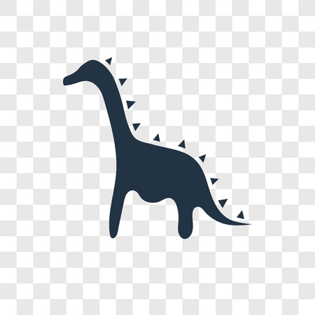 Dinosaur vector icon isolated on transparent background, Dinosaur transparency logo concept Illustration