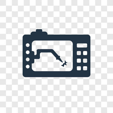 Lathe machine vector icon isolated on transparent background, Lathe machine transparency logo concept Vectores
