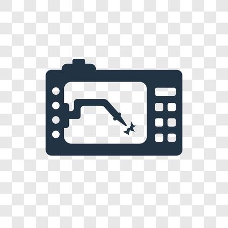 Lathe machine vector icon isolated on transparent background, Lathe machine transparency logo concept Illustration