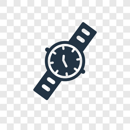 Water Resist Watch vector icon isolated on transparent background, Water Resist Watch transparency logo concept Ilustrace