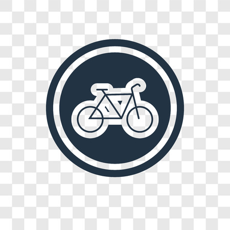 Bicycle vector icon isolated on transparent background, Bicycle transparency logo concept