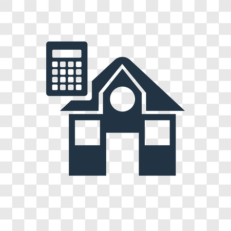 House vector icon isolated on transparent background, House transparency logo concept