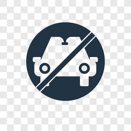 Car vector icon isolated on transparent background, Car transparency logo concept