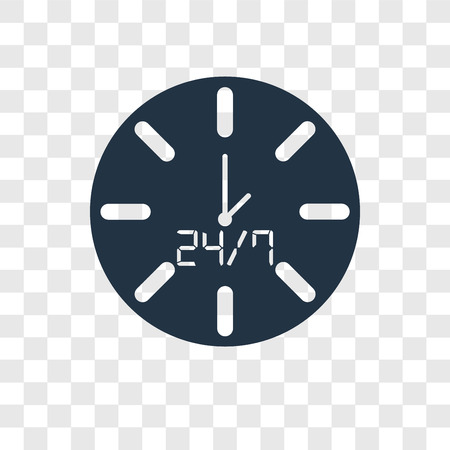 Time vector icon isolated on transparent background, Time transparency logo concept Çizim