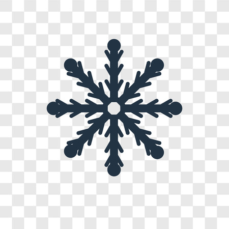 Snowflake vector icon isolated on transparent background, Snowflake transparency logo concept Иллюстрация