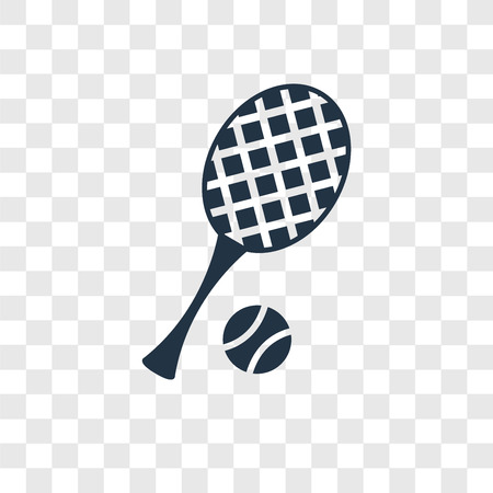 Tennis vector icon isolated on transparent background, Tennis transparency logo concept Illustration
